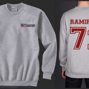 Ramirez 71 Greys Anatomy Heather Grey Unisex Crewneck Sweatshirt