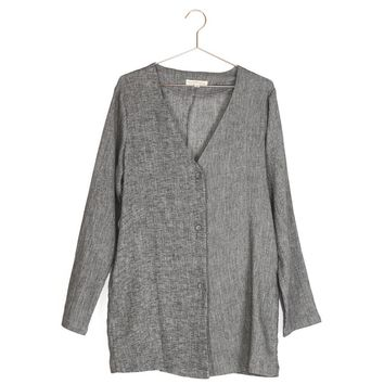 Linen Collarless Jacket