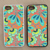 Floral Pattern iPhone Case, iPhone 5 Case, iPhone 4S Case, iPhone 4 Case - SKU: 221