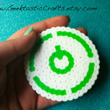 Xbox Power Button Perler // Coaster