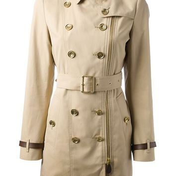 Burberry Brit Double Breasted Trench Coat