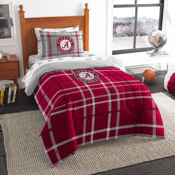 Alabama Crimson Tide NCAA Twin Comforter Bed in a Bag (Soft & Cozy) (64in x 86in)