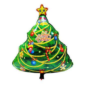 New Christmas Tree Aluminum Foil Balloon Christmas Party Decor Merry Xmas GiftHU