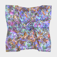Floral Abstract Stained Glass G268 Square Scarf Square Scarf