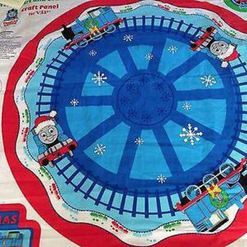 Thomas the Train fabric - Christmas Tree Skirt and Ornaments Panel