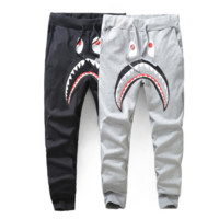 BAPE SHARK Fashion pants sport trousers harlan pants Sweethearts outfit