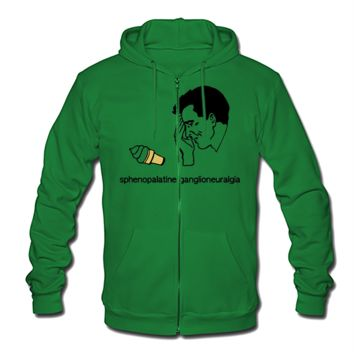 Brain Freeze Men's Zip Hoodie - Men's Zip Hoodie