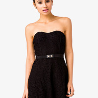 Crochet Lace Strapless Dress