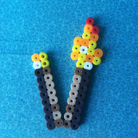 Perler Bead Minecraft: Torches