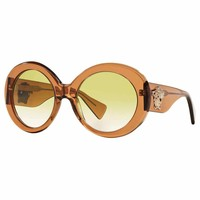 Versace Women's VE4298 Plastic Round Sunglasses