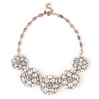 Sole Society Oversize Crystal Cluster Statement Necklace