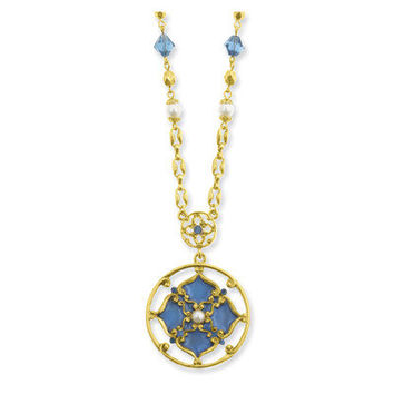 Jewelryweb Gold-tone Windows to Heaven Necklace - 18 Inch