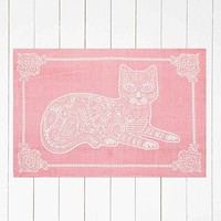 Cat Stamp 3x5 Rug in Pink - Urban Outfitters