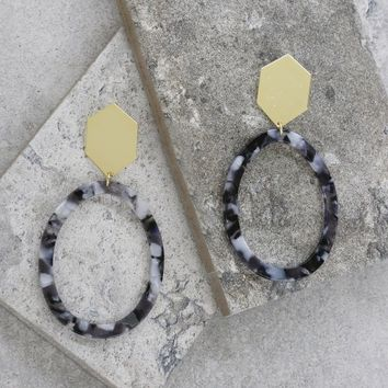 Tulum Hoops in Black and Gold