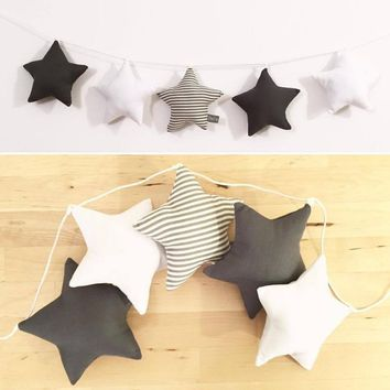 New Nordic Baby Room Handmade Nursery Star Garlands Christmas Kids Room Wall Decorations Photography Props Best Gifts