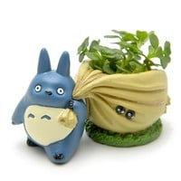 Mini My Neighbor Totoro Blue Carrying Bag Flower Pot