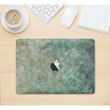 """The Grungy Green Painted Fabric Skin Kit for the 12"""" Apple MacBook"""