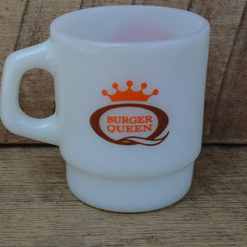 Fire King Burger Queen Coffee Mug Good Morning Burger Queen
