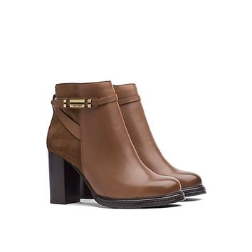 LEATHER AND SUEDE ANKLE BOOT | Tommy Hilfiger