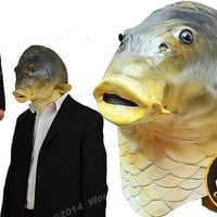 ZooBoo Creepy Fish full head Mask Halloween Costume