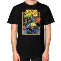 Boba Fett Fires star war Unisex T-Shirt (on man)