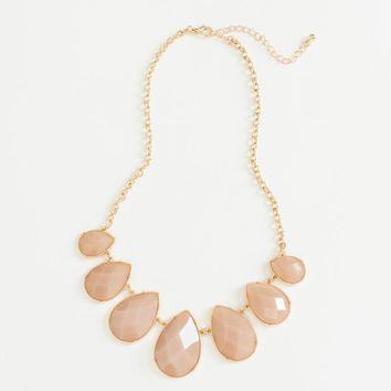 Mina Mauve Teardrop Necklace