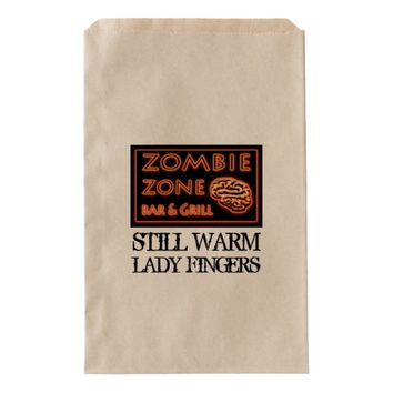 Funny Zombie Zone Halloween Lady Fingers Favor Bag