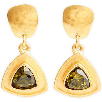 Trillion Earrings, Olive, Drops Earrings
