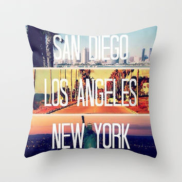 City Love Throw Pillow by Pink Berry Pattern