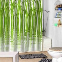 water Green Bamboo shower curtains adorabel bathroom and heppy shower.
