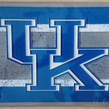 Kentucky Wildcats VINTAGE Deluxe Acrylic Laser License Plate Tag University of