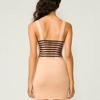 Charlotte Russe Club Strappy Cage Back Mini Dress Backless Bodycon Mini Medium