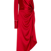 One-Shoulder Silk-Satin Dress | Moda Operandi