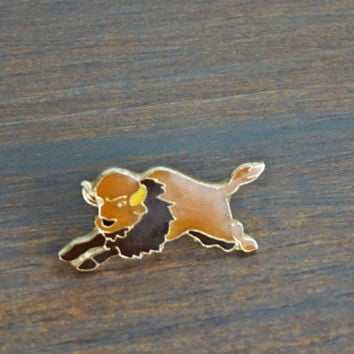 Vintage Buffalo Lapel Pin,Hat Pin