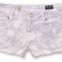 Volcom High Voltage Lavender Tie Dye Cut Off Shorts