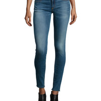 Mid-Rise Skinny Jeans, Clean Euston, Size: