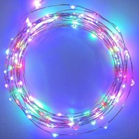 Starry Starry Lights - MultiColor Micro LED's - 20ft LED Light String with 120 LEDs on a Ultra Thin Copper String, Includes Power Adapter:Amazon:Patio, Lawn & Garden