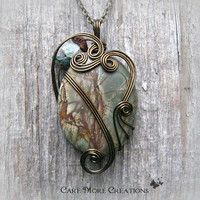 Picasso Jasper Wire Wrapped Pendant - As Gifted to Celebrities at CMA Awards