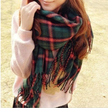 women fashion cashmere scarf wrap big size shawl for all seasons beige/green/purple/grey = 1958004164