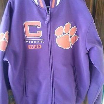 CLEMSON TIGERS Varsity Style Fleece  JACKET NEW WITH TAGS R&R Designs