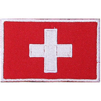 Switzerland Flag Embroidered Patch Velcro For Sport Outdoor Army Baseball Hats