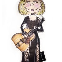 Custom Personalized Doll and Original Watercolor Illustration