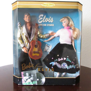 Barbie Loves Elvis Collectors Doll Set - Limited Edition