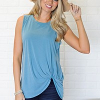 *  Addy Knot Tank : Teal