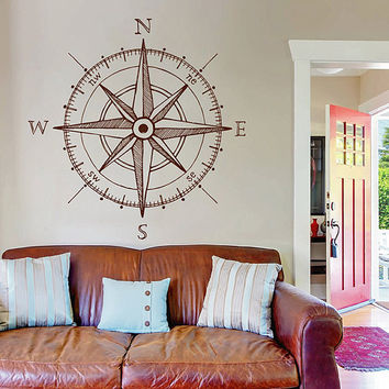 kik2979 Wall Decal Sticker compass living room bedroom