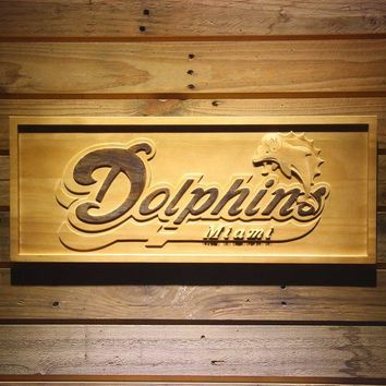 ONETOW Miami Dolphins 3D Wooden Sign