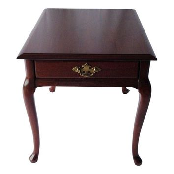 Pre-owned Brandt Queen Anne Mahogany Side Table