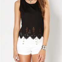 Floral Scalloped Tank