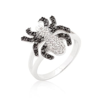 Cubic Zirconia Spider Fashion Ring, size : 08