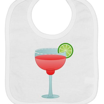 Red Margarita with Lime - Cinco de Mayo Baby Bib by TooLoud